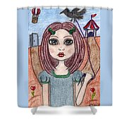 Two Paths Shower Curtain