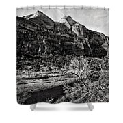 Two Peaks - Bw Shower Curtain