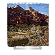 Two Peaks Shower Curtain