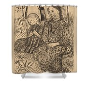 Two Peasant Girls Shower Curtain