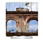 Two Picture Windows Shower Curtain