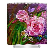 Two Pinks Jenny Lee Discount Shower Curtain