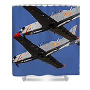 Two Pzl-130 Orlik Trainers Shower Curtain