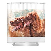 Two Redheads Shower Curtain