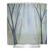 Two Roads I Shower Curtain