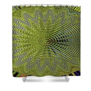 Two Saguaro Abstract #4496w3 Shower Curtain
