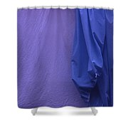 Two Sheets Abstract Purple Blue Shower Curtain