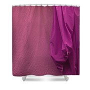 Two Sheets Abstract Salmon Fuscia Shower Curtain