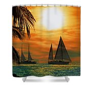 Two Ships Passing In The Night Shower Curtain