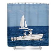 Two Ships That Pass Thru The Day Shower Curtain