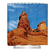 Two Sisters Formation Sedona Az Hbn2 Shower Curtain