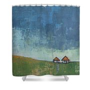 Two Sisters Houses Shower Curtain
