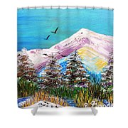 Two Soaring Birds Shower Curtain