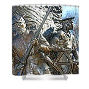 Two Soldiers Of The The African American Civil War Memorial -- The Spirit Of Freedom Shower Curtain