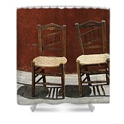 Two Spainisch Chairs  Shower Curtain