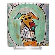 Two Star Greyhound Shower Curtain