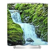 Two Steps Down Shower Curtain