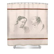 Two Studies Of Girls Shower Curtain