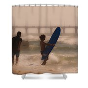 Two Surfers Shower Curtain