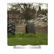 Two Tires Shower Curtain