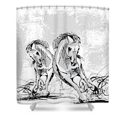 Taking Two To Tango Shower Curtain
