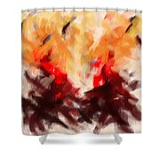 Two To Tango Abstract Shower Curtain