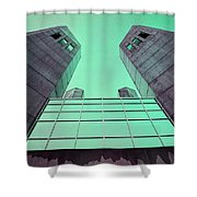 Two Towers Shower Curtain