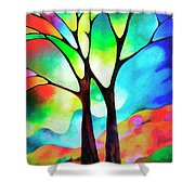 Two Trees Shower Curtain