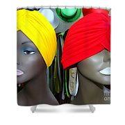 Two Turbans Shower Curtain