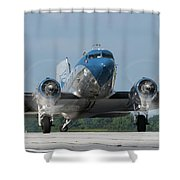 Two Turning - 2017 Christopher Buff, Www.aviationbuff.com Shower Curtain