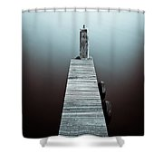 Two Tyres Shower Curtain