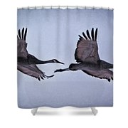 Two Under The Moon Shower Curtain