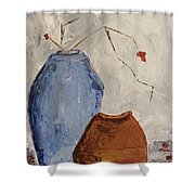Two Vases Still Life Shower Curtain