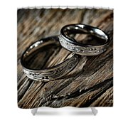 Two Wedding Rings With Celtic Design Shower Curtain