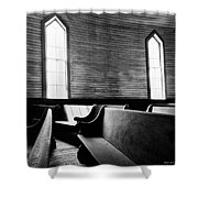 Two Window Church Shower Curtain
