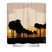 Two With The Palms Shower Curtain