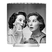 Two Women Gossiping, C.1950-60s Shower Curtain