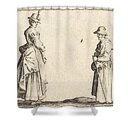 Two Women In Profile Shower Curtain