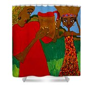 Two Women Shower Curtain