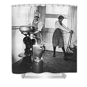 Two Women Making Butter Shower Curtain