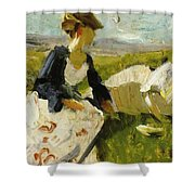 Two Women On The Hillside 1906 Shower Curtain