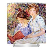 Two Women Reading Shower Curtain