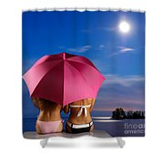 Two Women Relaxing On A Shore Shower Curtain