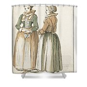 Two Women Standing Shower Curtain