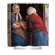 Two Women Talking Shower Curtain