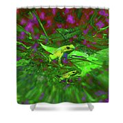 Two Yellow Frogs Shower Curtain