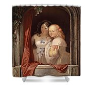 Two Young Ladies At The Window Shower Curtain