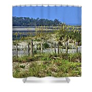 Tybee Island Inlet Shower Curtain
