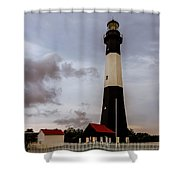Tybee Island Lighthouse - Square Format Shower Curtain