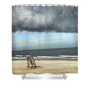 Tybee Island Storm Shower Curtain